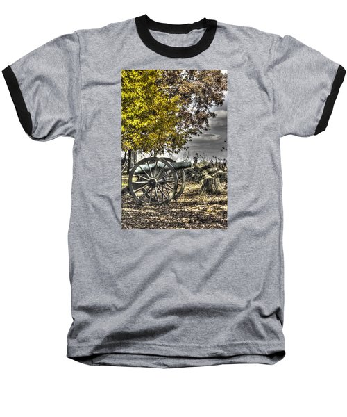 Baseball T-Shirt featuring the photograph War Thunder - The Purcell Artillery Mc Graw's Battery-a2 West Confederate Ave Gettysburg by Michael Mazaika