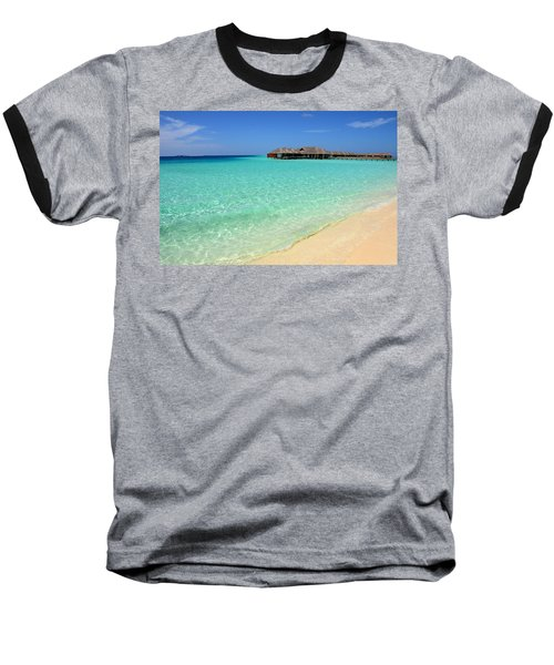 Warm Welcoming. Maldives Baseball T-Shirt by Jenny Rainbow