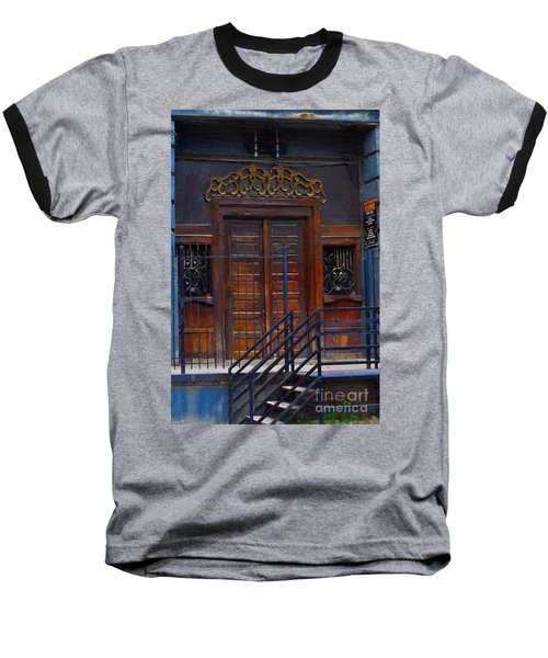 Warning Do Not Enter - Oil Painting Baseball T-Shirt