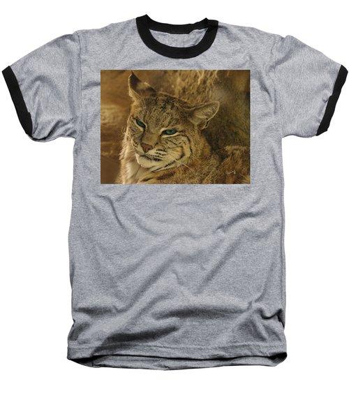 Wary Bobcat Baseball T-Shirt