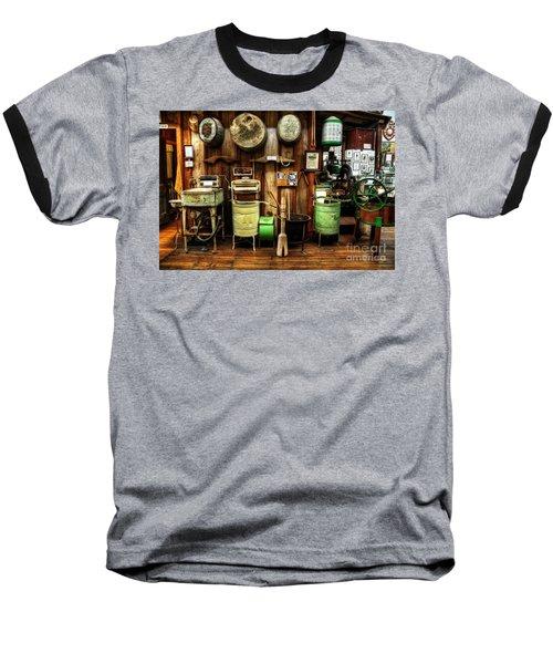 Washing Machines Of Yesteryear Baseball T-Shirt by Kaye Menner