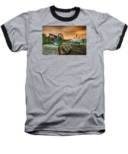 Washington Artillery Park Baseball T-Shirt