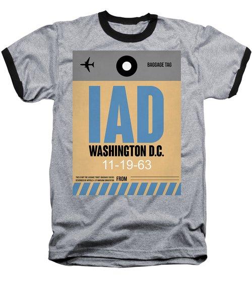 Washington D.c. Airport Poster 3 Baseball T-Shirt