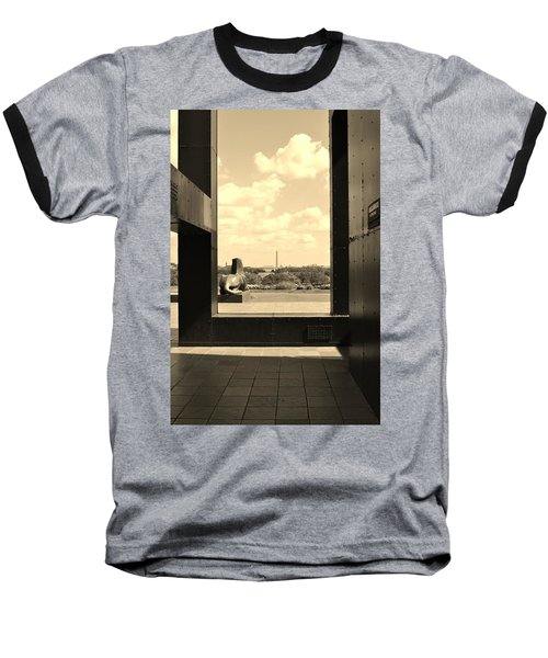 Washington Dc Framed Baseball T-Shirt by Jean Goodwin Brooks