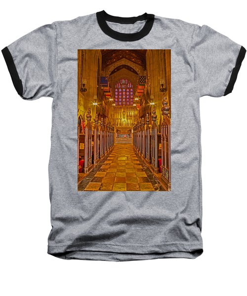 Washington Memorial Chapel Altar Baseball T-Shirt by Michael Porchik