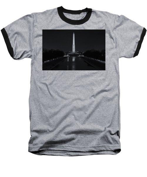 Washington Monument At Night Baseball T-Shirt