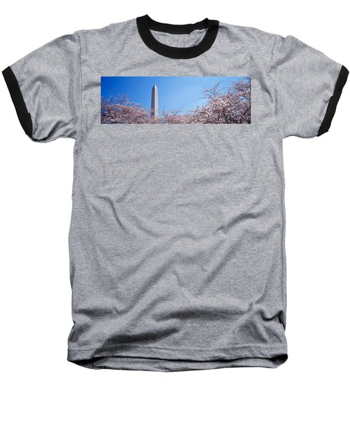 Washington Monument Behind Cherry Baseball T-Shirt by Panoramic Images