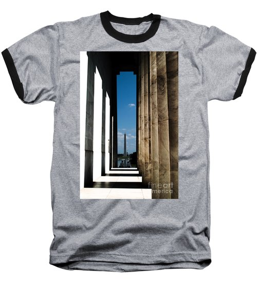 Washington Monument Color Baseball T-Shirt