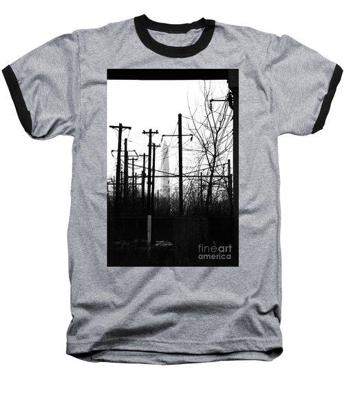 Washington Monument From The Train Yard. Washington Dc Baseball T-Shirt