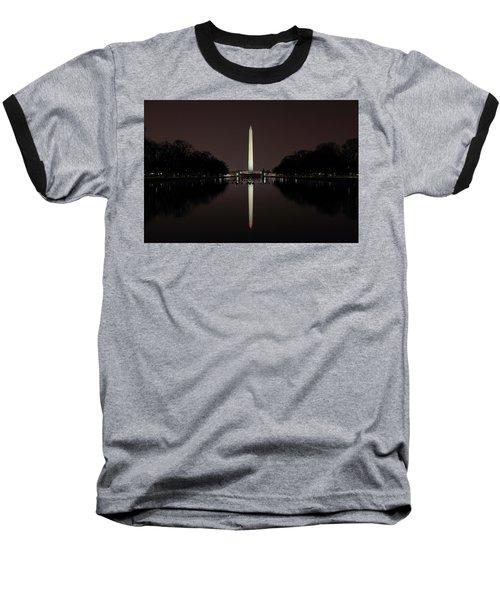 Washington Monument Reflections At Night Baseball T-Shirt