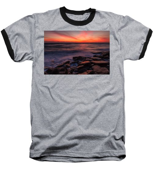 Washington Oaks Winter Sunrise Baseball T-Shirt