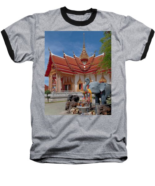 Wat Chalong Wiharn And Elephant Tribute Dthp045 Baseball T-Shirt