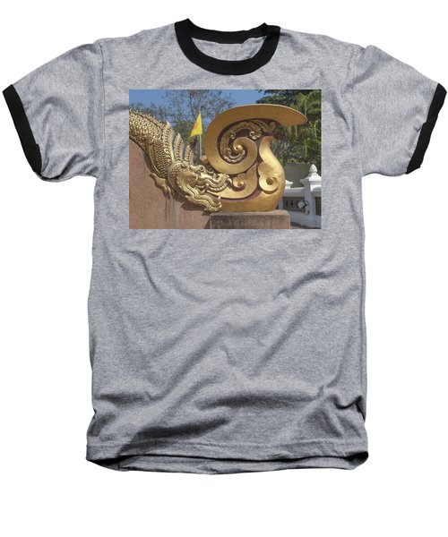 Wat Chedi Liem Phra Ubosot Makara And Stylized Naga Dthcm0838 Baseball T-Shirt