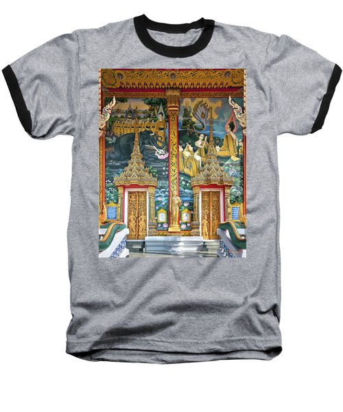 Baseball T-Shirt featuring the photograph Wat Choeng Thale Ordination Hall Facade Dthp143 by Gerry Gantt