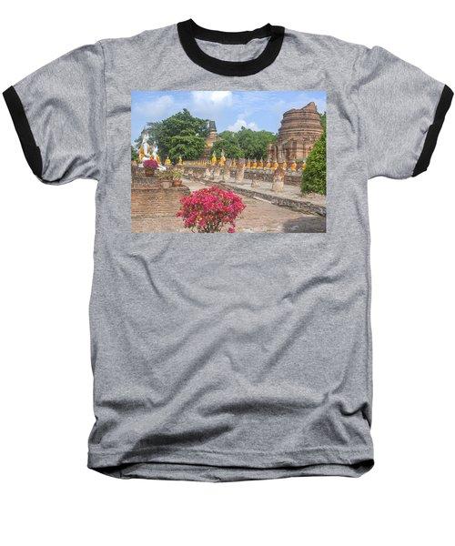 Wat Phra Chao Phya-thai Buddha Images And Ruined Chedi Dtha004 Baseball T-Shirt