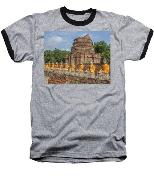 Wat Phra Chao Phya-thai Buddha Images And Ruined Chedi Dtha005 Baseball T-Shirt