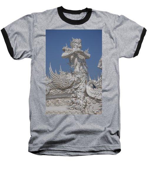 Wat Rong Khun Ubosot Causeway Guardian Dthcr0007 Baseball T-Shirt