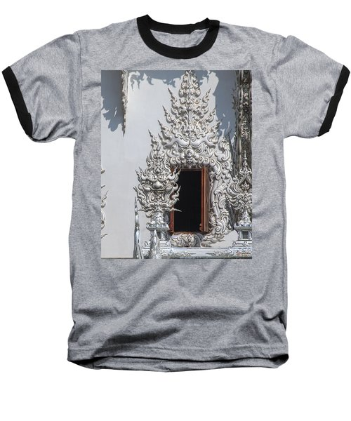Wat Rong Khun Ubosot Window Dthcr0042 Baseball T-Shirt