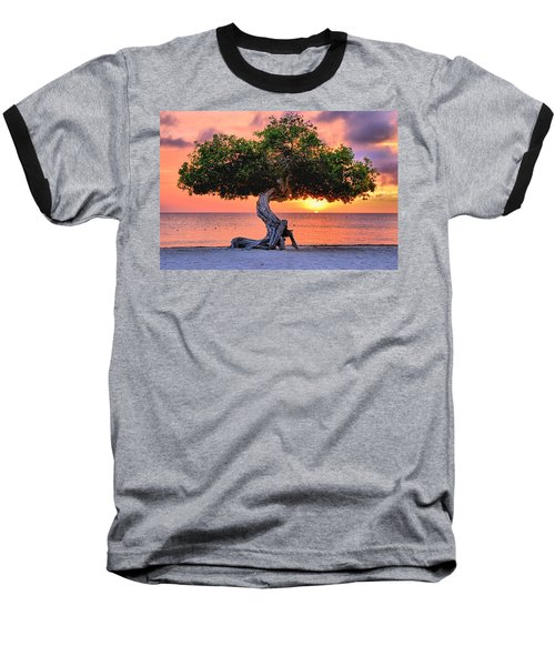 Watapana Tree - Aruba Baseball T-Shirt