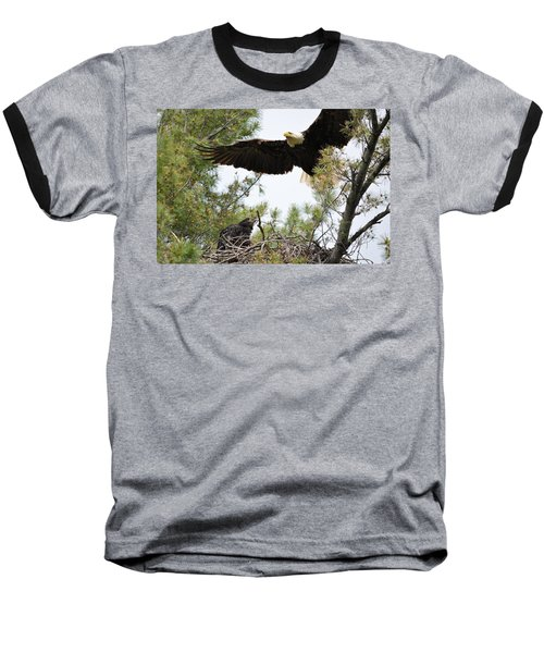 Watch Out Below Baseball T-Shirt