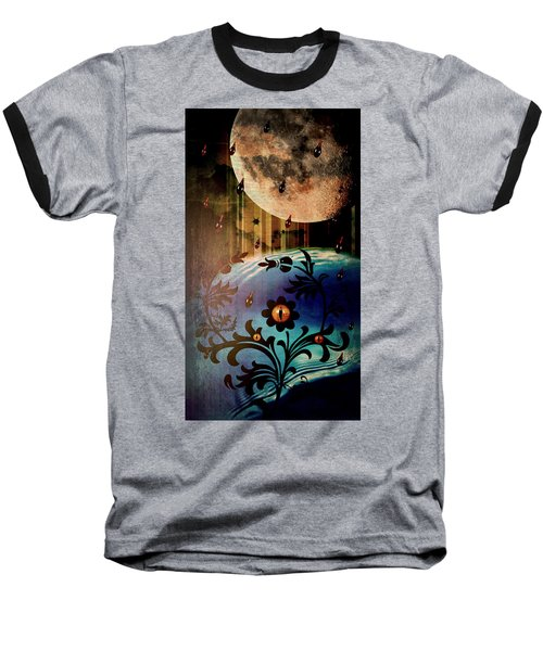 Baseball T-Shirt featuring the mixed media Watching by Ally  White
