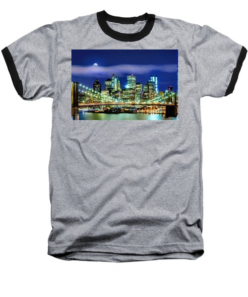Watching Over New York Baseball T-Shirt by Az Jackson