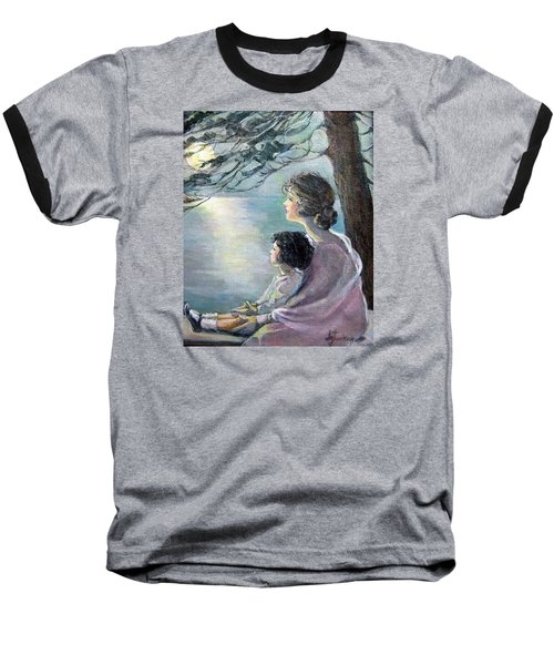 Watching The Moon Baseball T-Shirt
