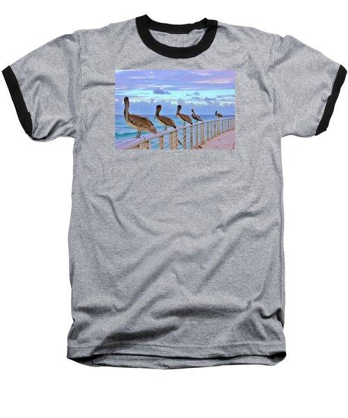 Watching The Ocean Baseball T-Shirt