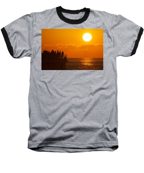 Watching The Sunset Baseball T-Shirt