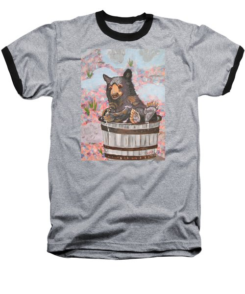 Baseball T-Shirt featuring the painting Water Bear by Phyllis Kaltenbach