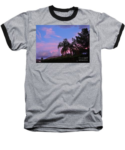 Water Colored Sky Baseball T-Shirt