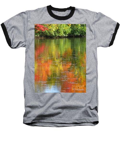 Water Colors Baseball T-Shirt by Ann Horn