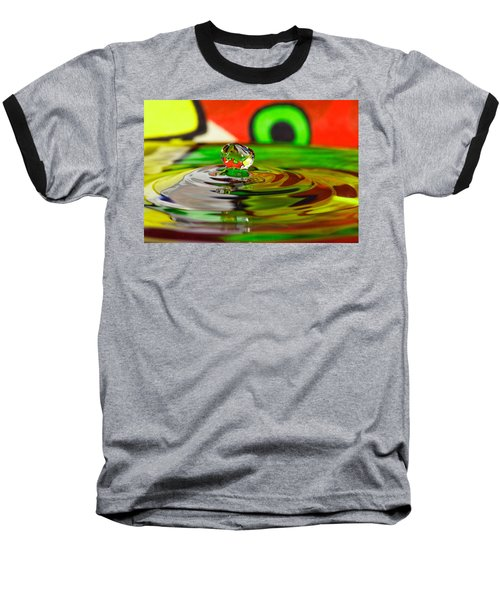 Baseball T-Shirt featuring the photograph Water Drop by Peter Lakomy