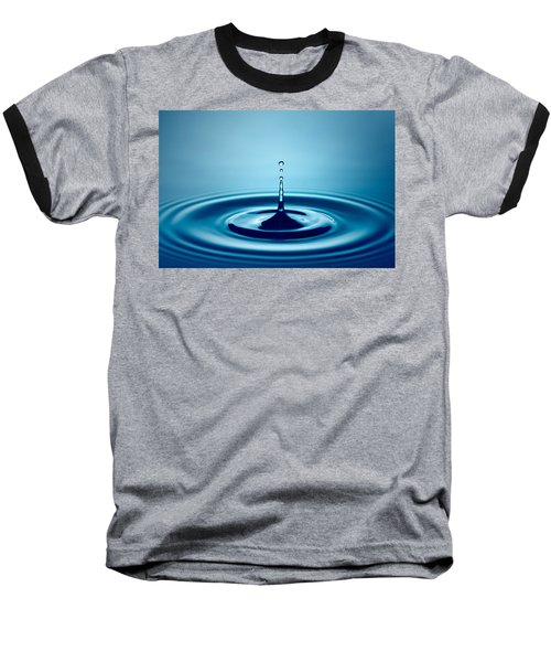 Water Drop Splash Baseball T-Shirt by Johan Swanepoel