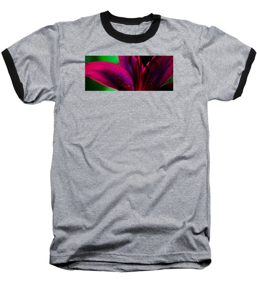 Water-drops On The Petal Baseball T-Shirt by Shelby  Young