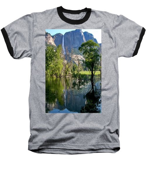 Water Fall Baseball T-Shirt by Menachem Ganon