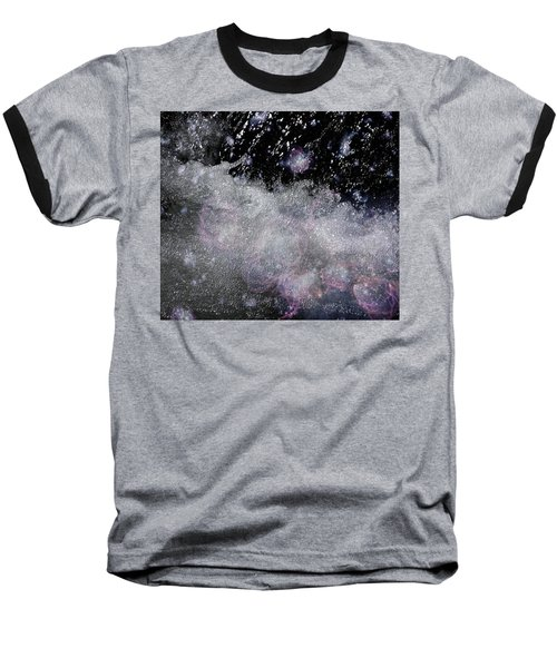 Water Flowing Into Space Baseball T-Shirt