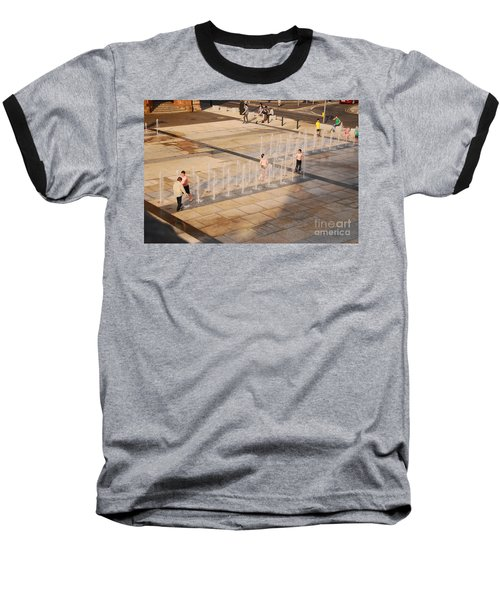 Baseball T-Shirt featuring the photograph Water Fun by Mary Carol Story