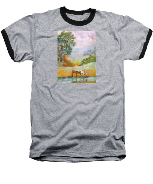 Baseball T-Shirt featuring the painting Water Hole by Mary Armstrong
