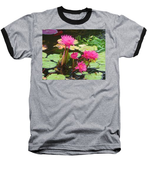 Water Lilies 008 Baseball T-Shirt
