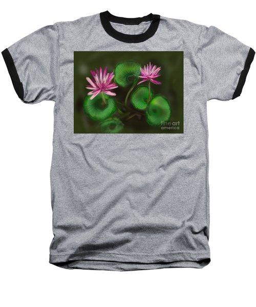 Baseball T-Shirt featuring the digital art Water Lilies by Christine Fournier