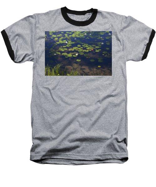 Water Lilies Baseball T-Shirt