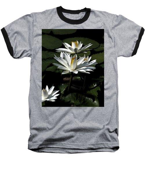 Baseball T-Shirt featuring the photograph Water Lilies by John Freidenberg