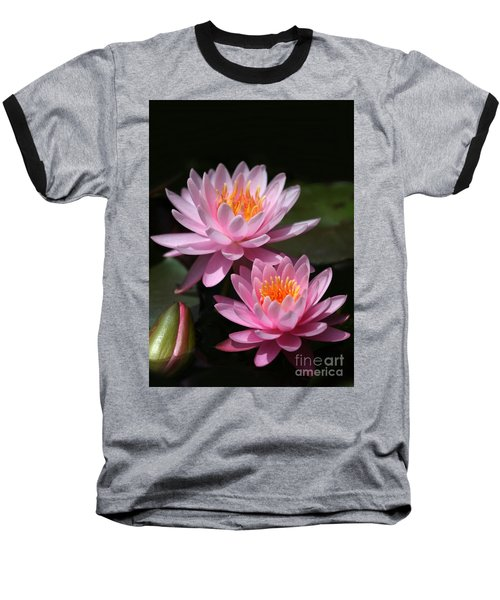 Water Lilies Love The Sun Baseball T-Shirt