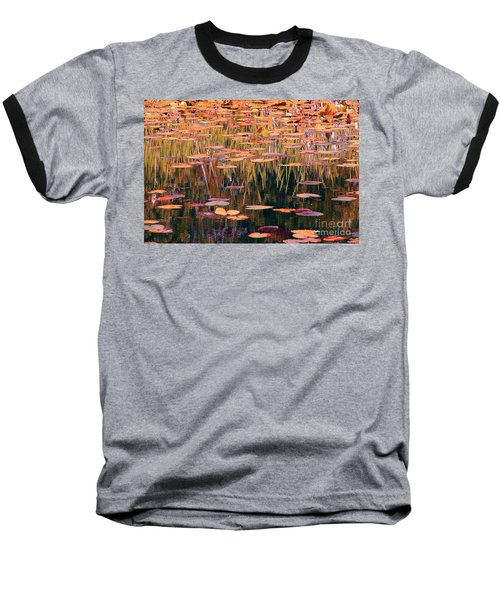 Water Lilies Re Do Baseball T-Shirt by Chris Anderson