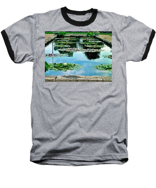 Water Lily Garden Baseball T-Shirt by Zafer Gurel