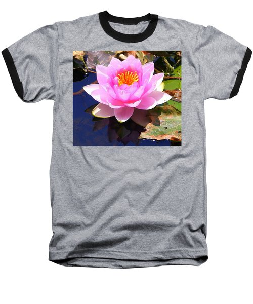 Water Lily In Pink Baseball T-Shirt