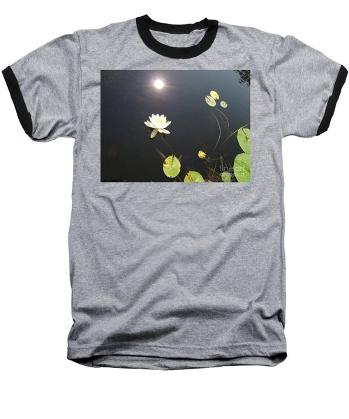 Water Lily Baseball T-Shirt by Laurel Best