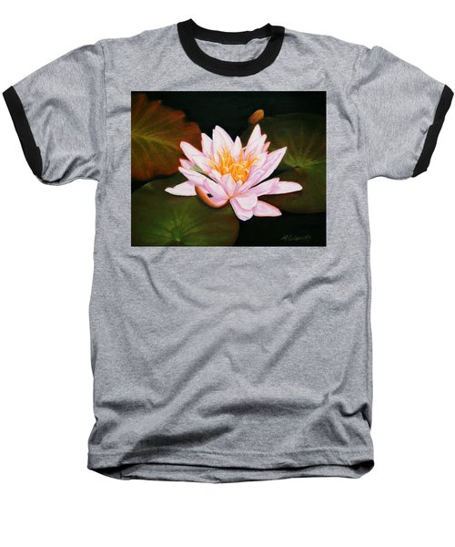 Water Lily Baseball T-Shirt