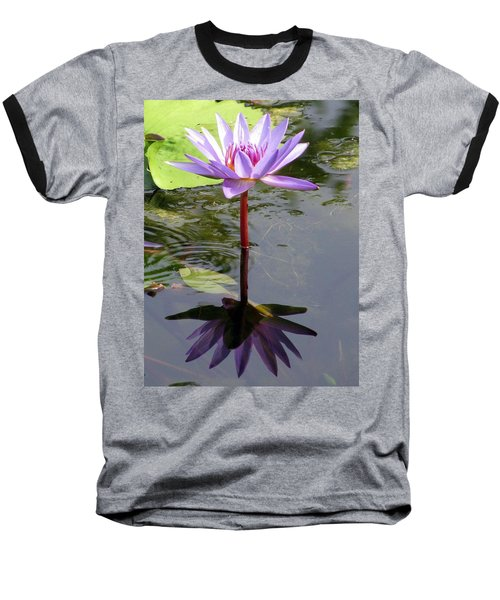 Water Lily - Shaded Baseball T-Shirt